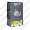 Перчатки латексные смотровые опудренные Benovy - M, 100 шт.