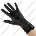 Перчатки виниловые BENOVY, S, черные, 500/50пар