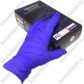 Перчатки нитриловые текстурированные на пальцах BENOVY, XS, васильковый, 500/50