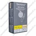 Перчатки латексные смотровые опудренные Benovy - XS, 100 шт.