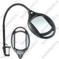Лампа-Лупа 3D (цвет чёрный, увеличение 175%, освещение - светодиоды, крепление-струбцина)