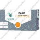 Маска 3-х слойная в коробке, оранжевая / 50/1000 (фильтр - мелтблаун)