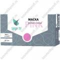 Маска 3-х слойная в коробке, розовая / 50/1000 (фильтр - мелтблаун)