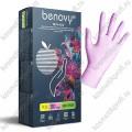 Перчатки нитриловые перламутровые розовые XS Benovy  (50 пар)