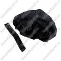 Одноразовые шапочки черные 100 шт эконом