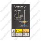Перчатки латексные неопудренные S Benovy