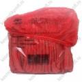 Одноразовые шапочки красные 100 шт эконом