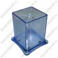 Стакан-подставка квадратный пластиковый синий