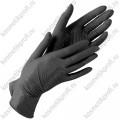 Перчатки нитриловые черные XS Benovy  (50 пар)